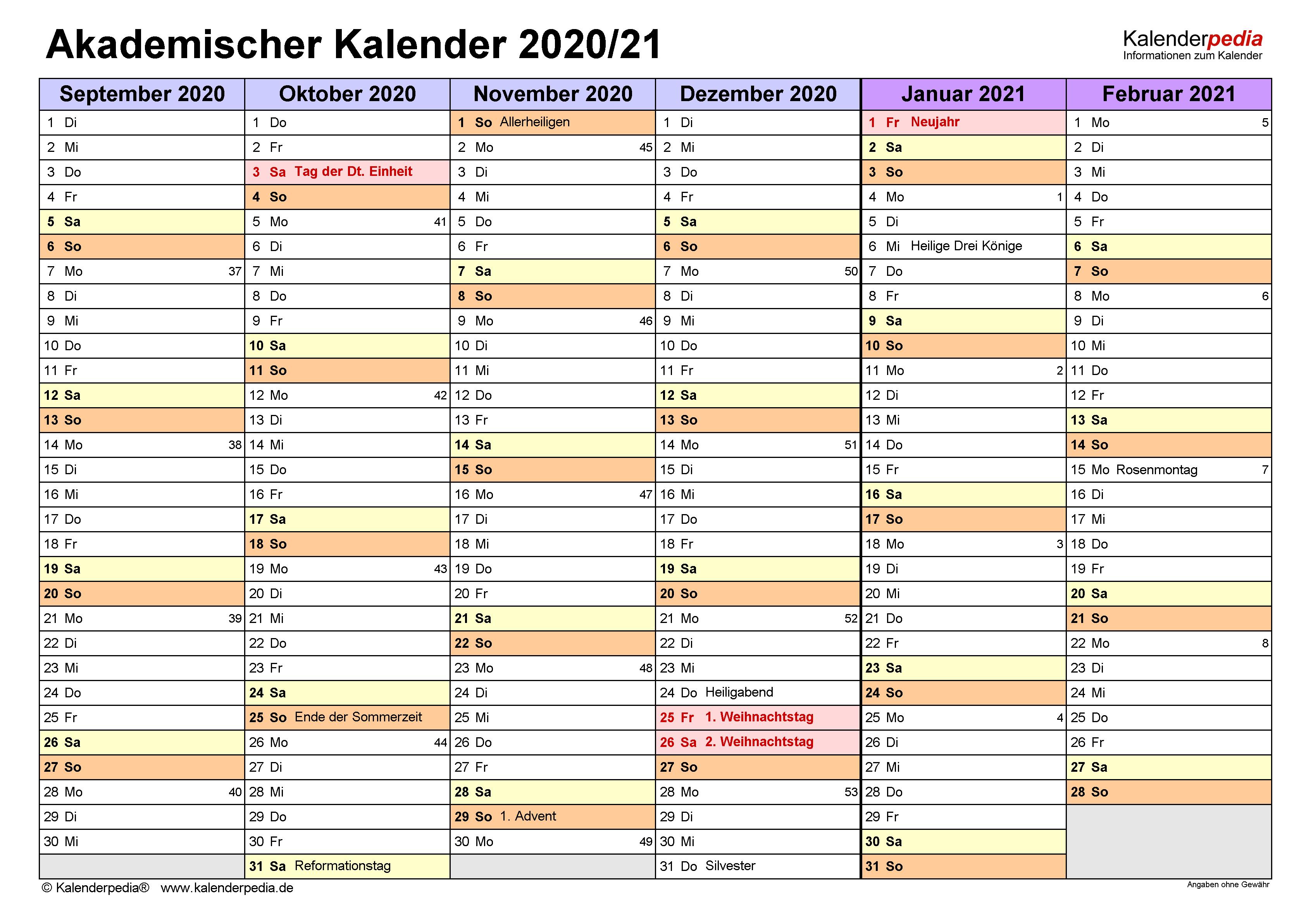 Akademischer Terminkalender