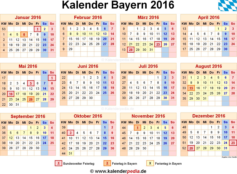 Ferien Bayern 15/16