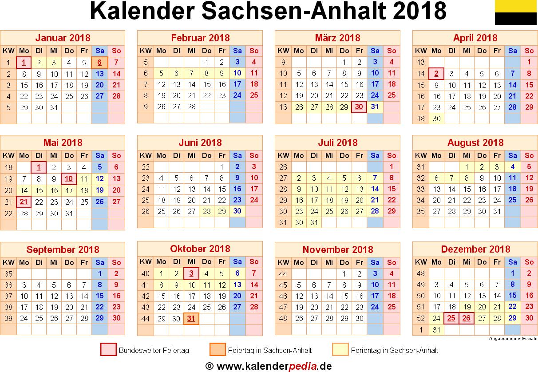 ferien sachsen anhalt 2018 sommer