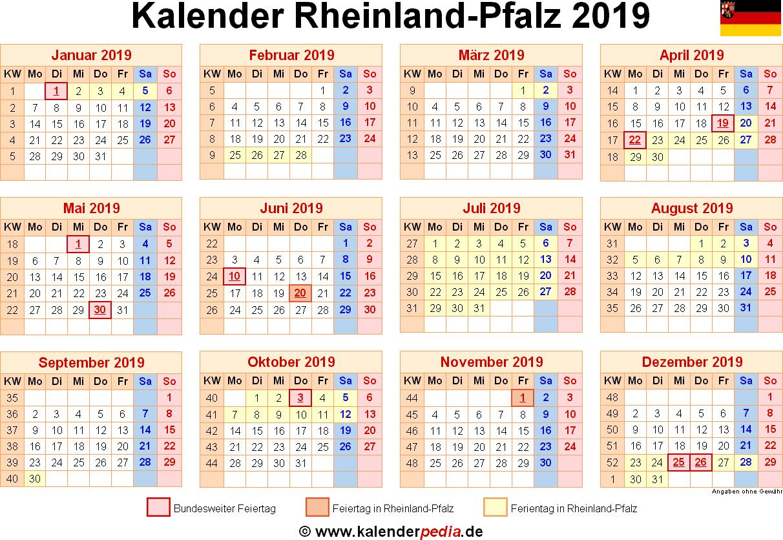 Ferien rheinland pfalz 2019