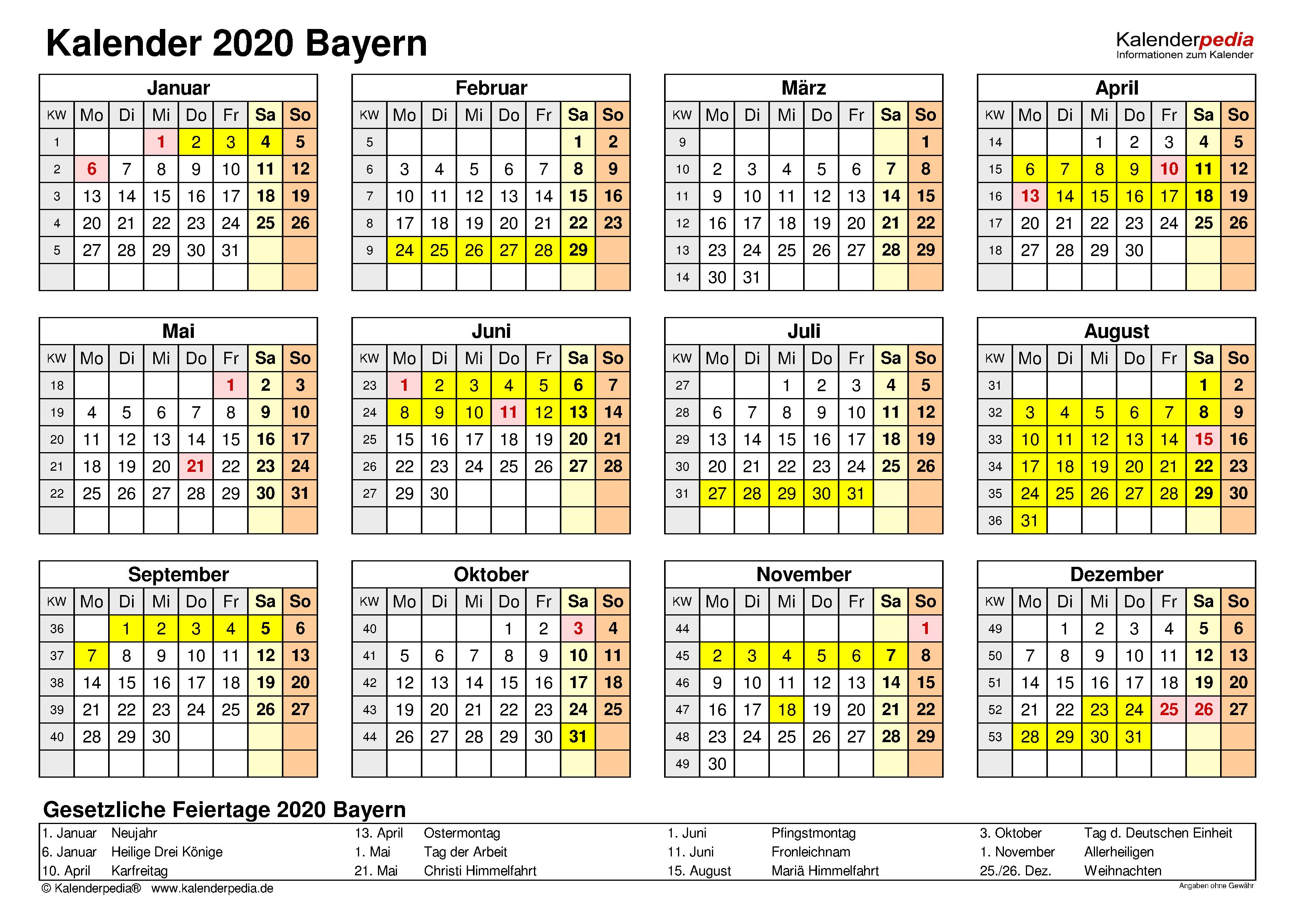 Stille Tage Bayern 2020