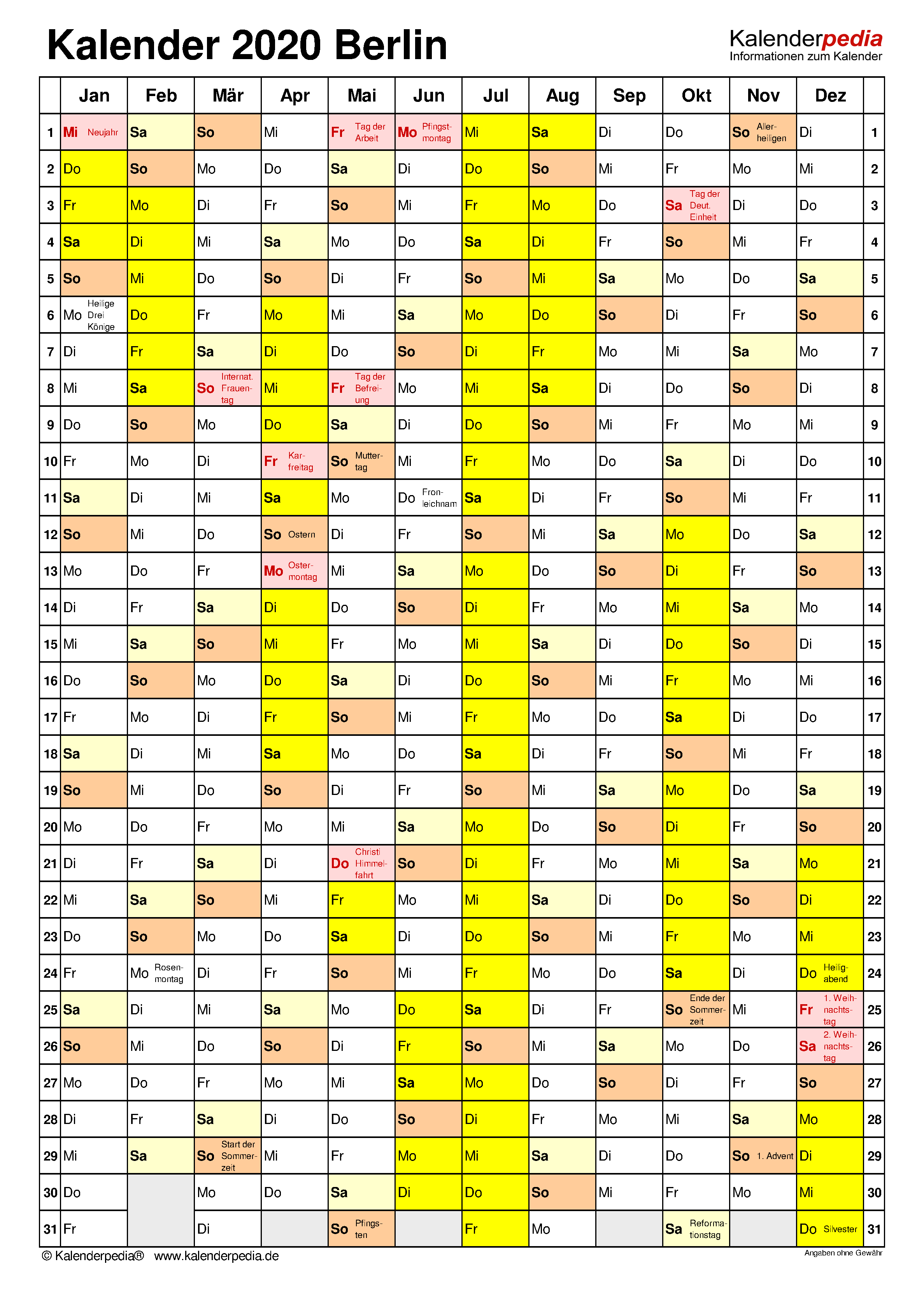 Berlin Kalender