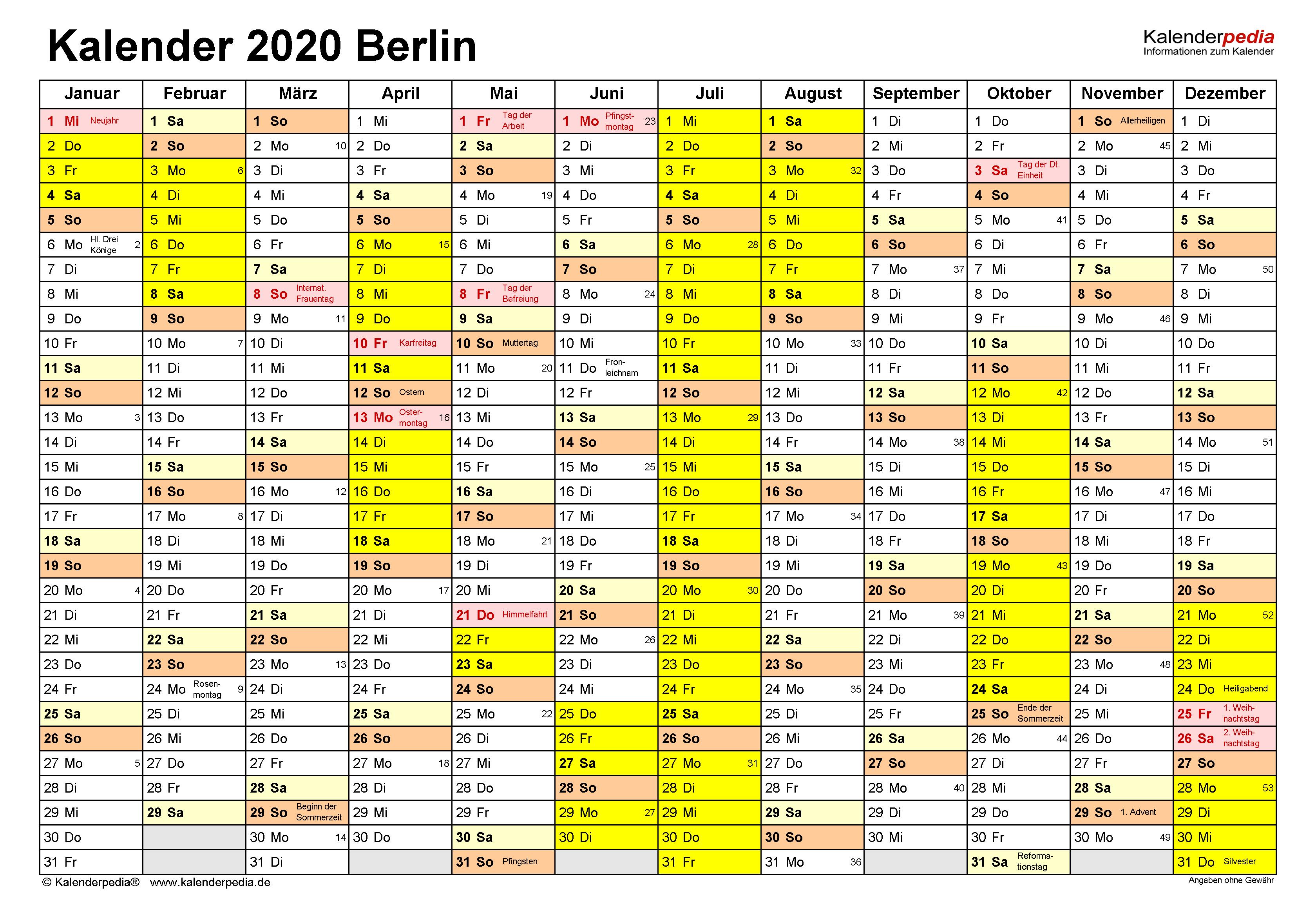Feiertage Mai 2020 Berlin