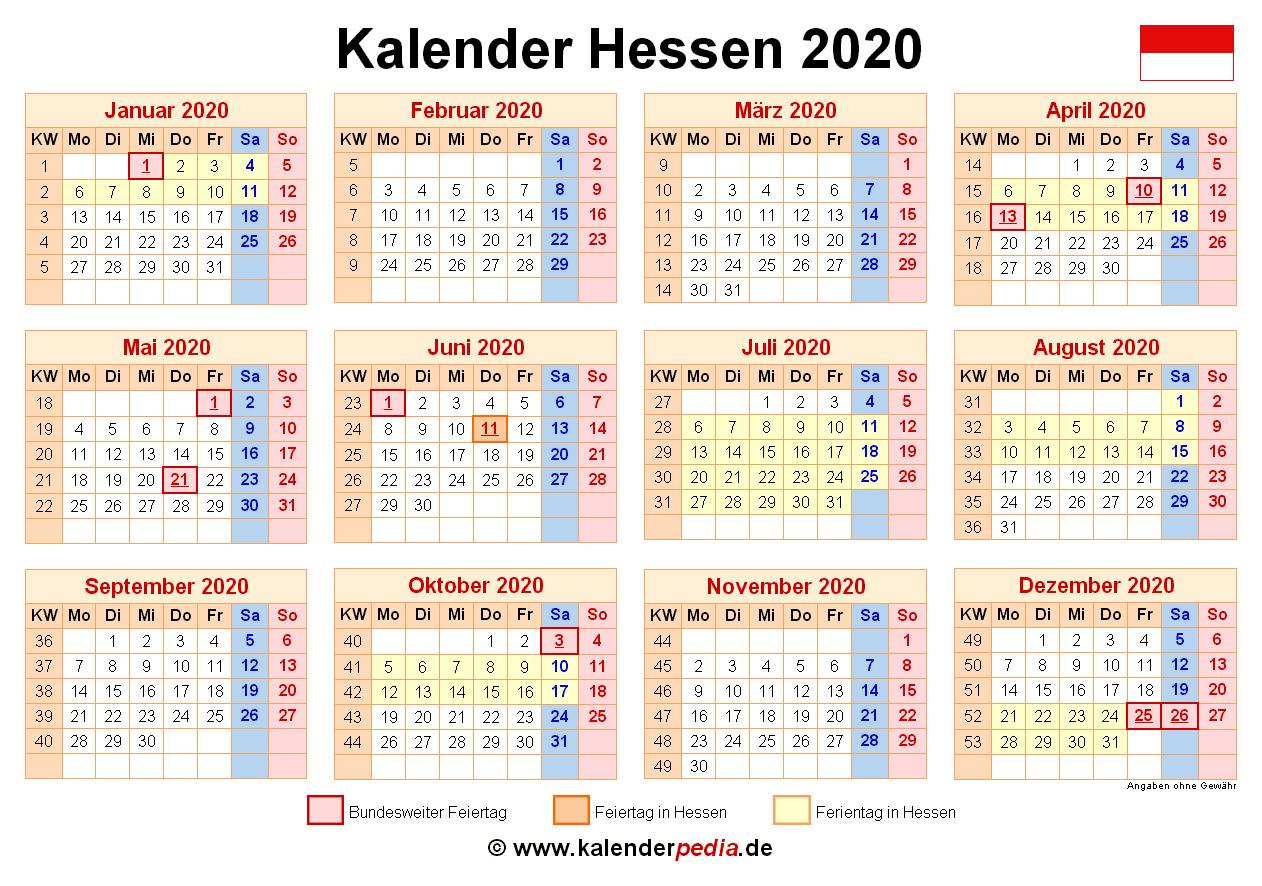 Sommerferien 2020 hessen