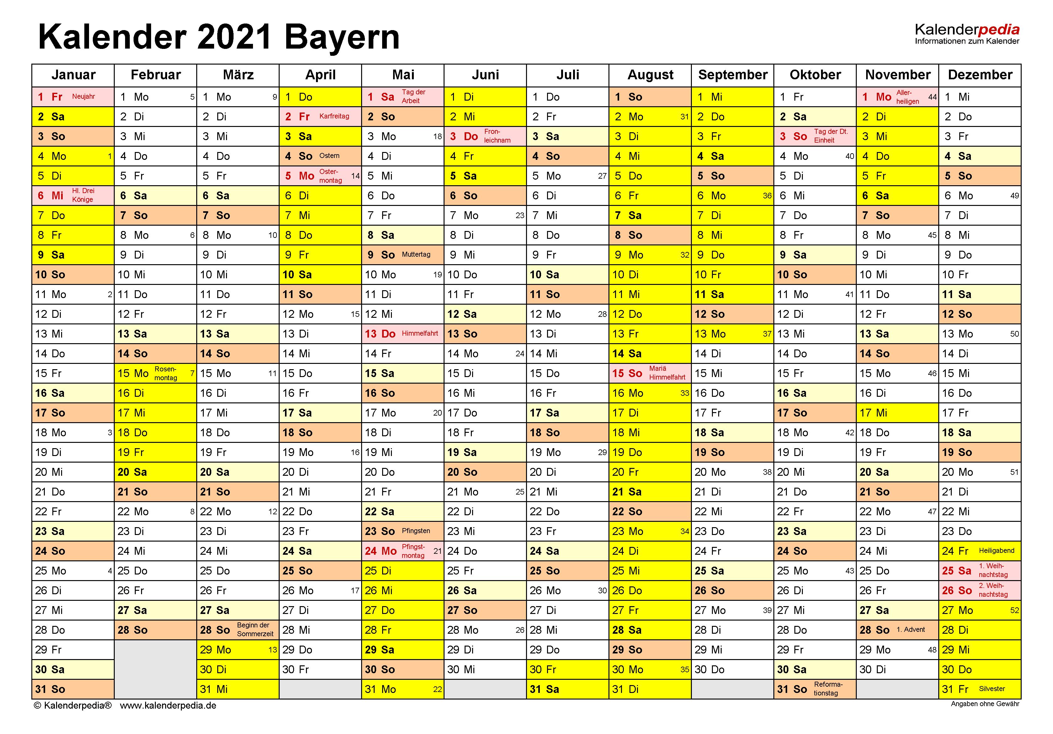 Kallender 2021
