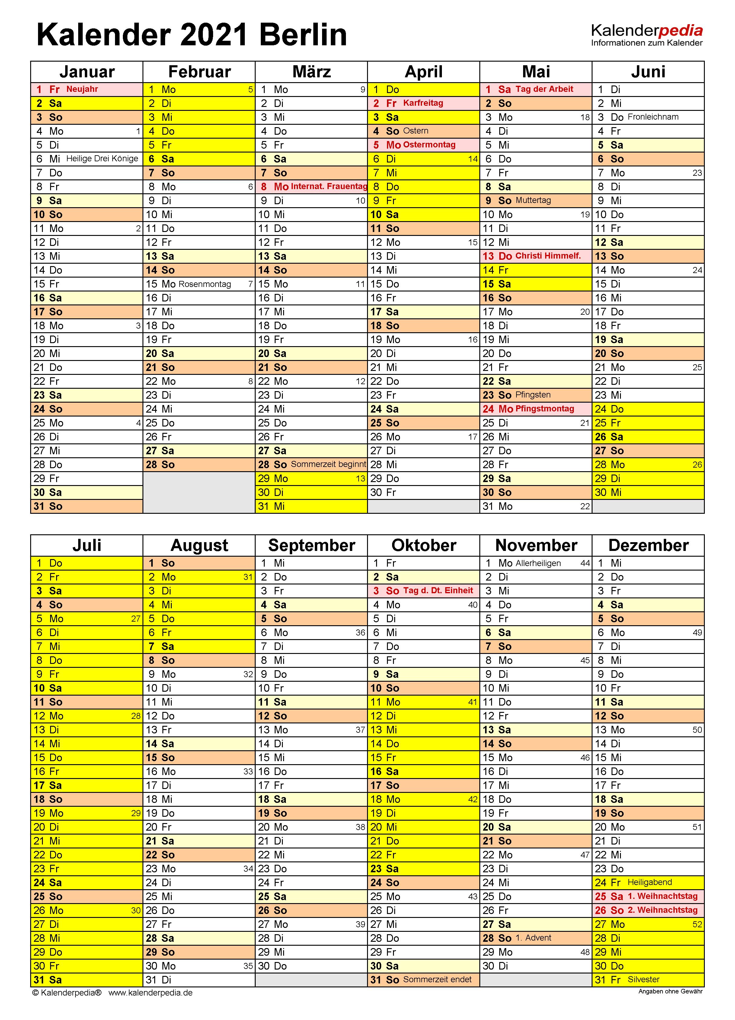 Kalender Berlin