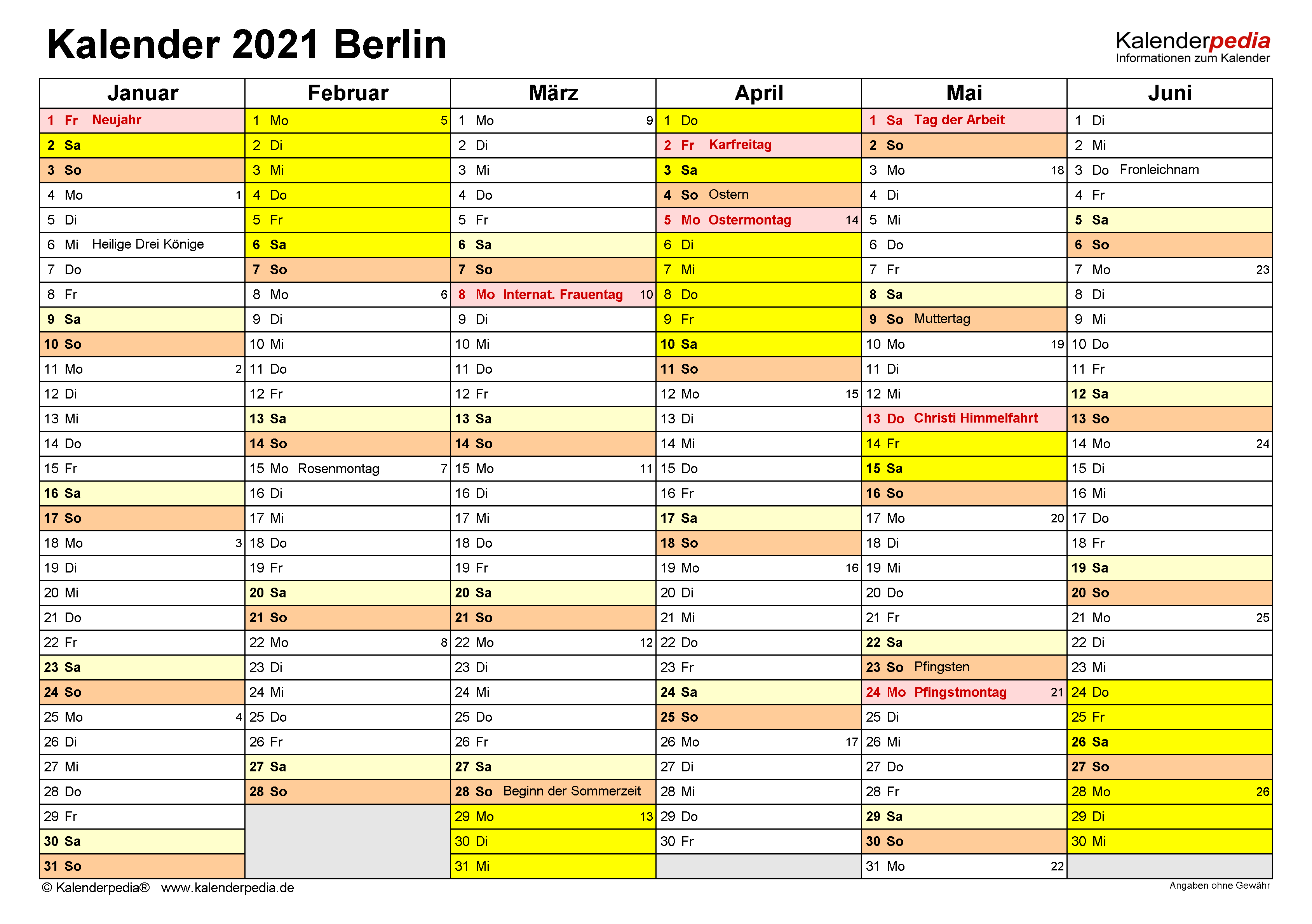 Ferien 2021 Berlin