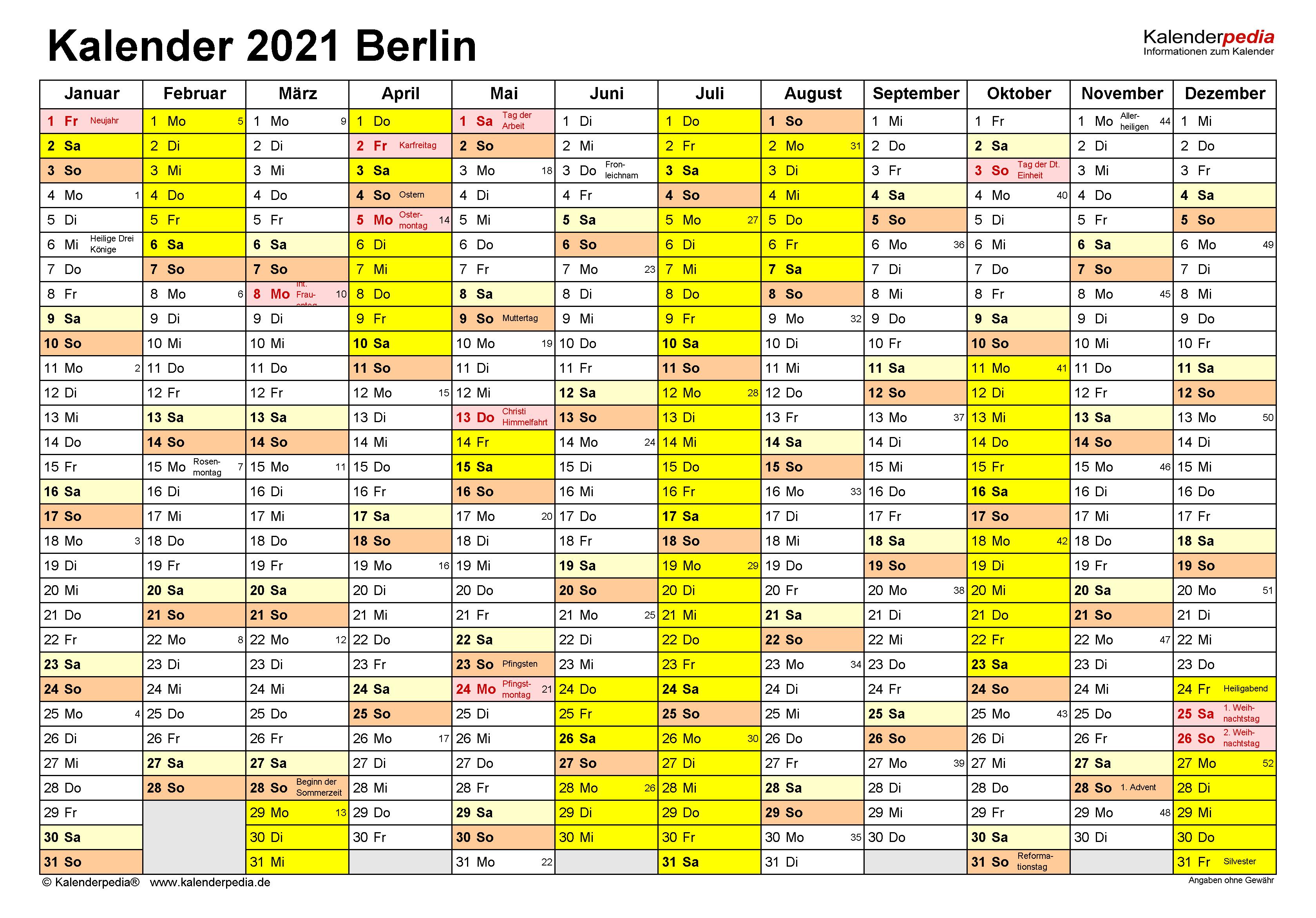 Berliner Ferien 2021