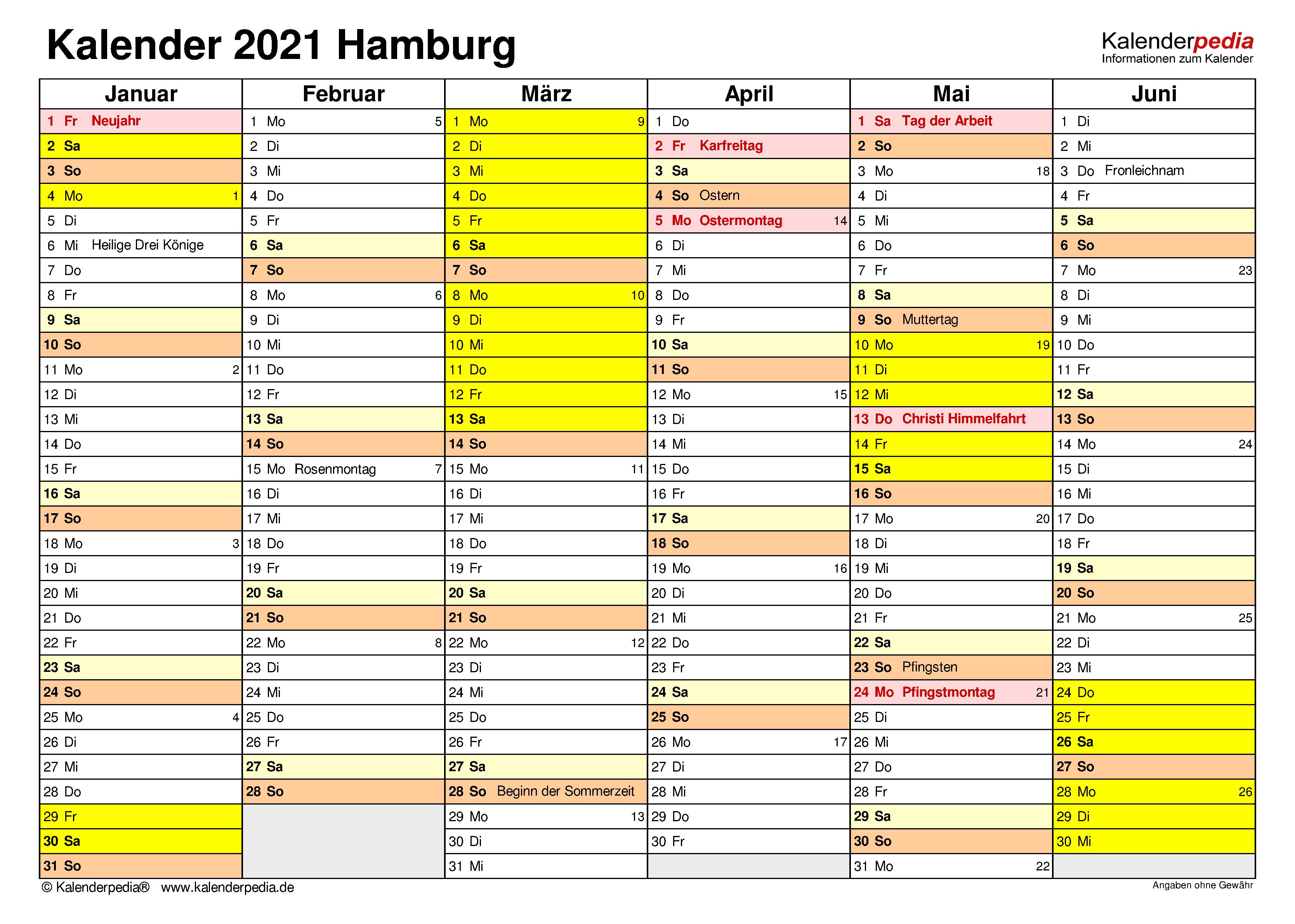 Kalender Pfingsten 2021