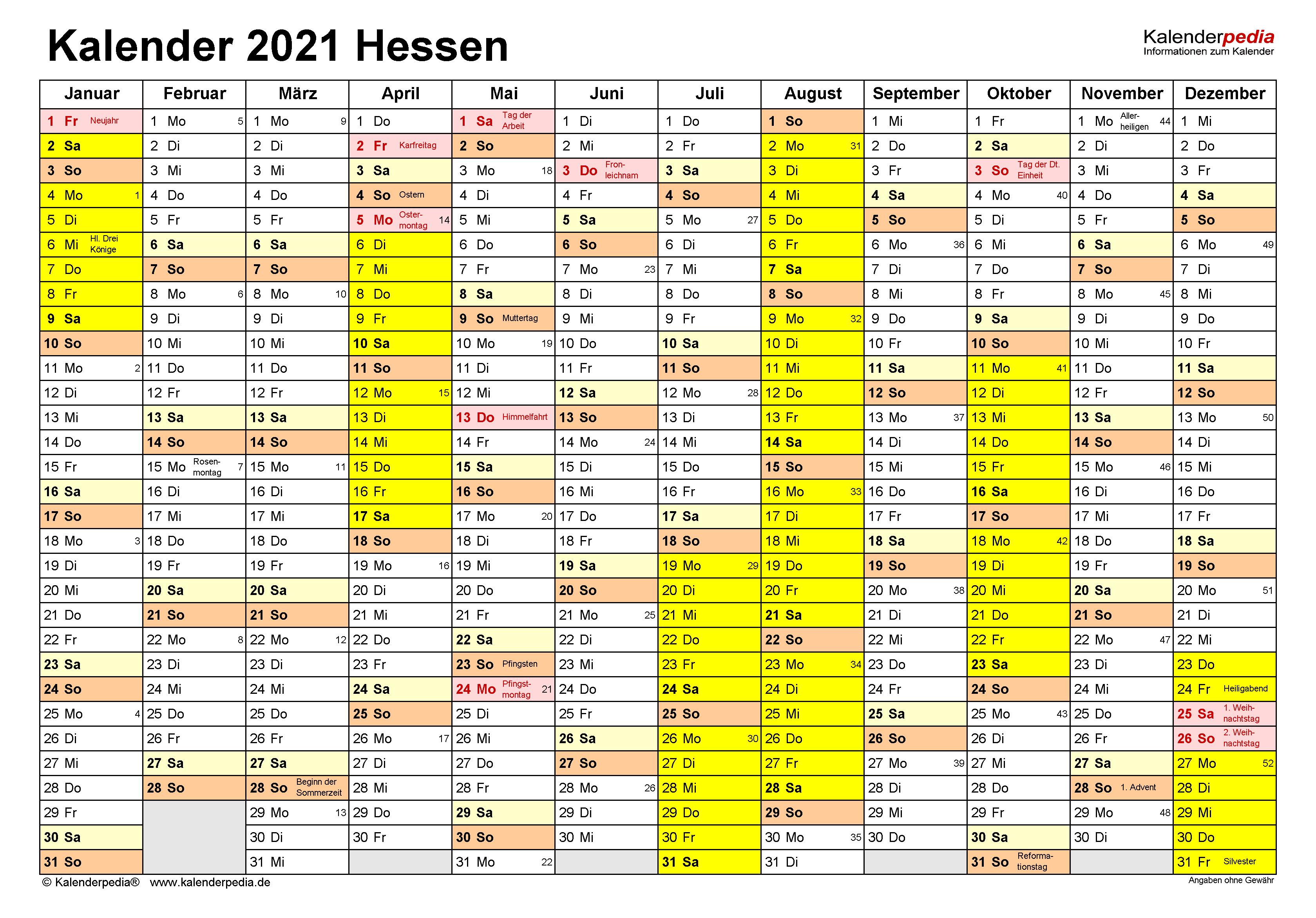 Brückentage 2021 Hessen