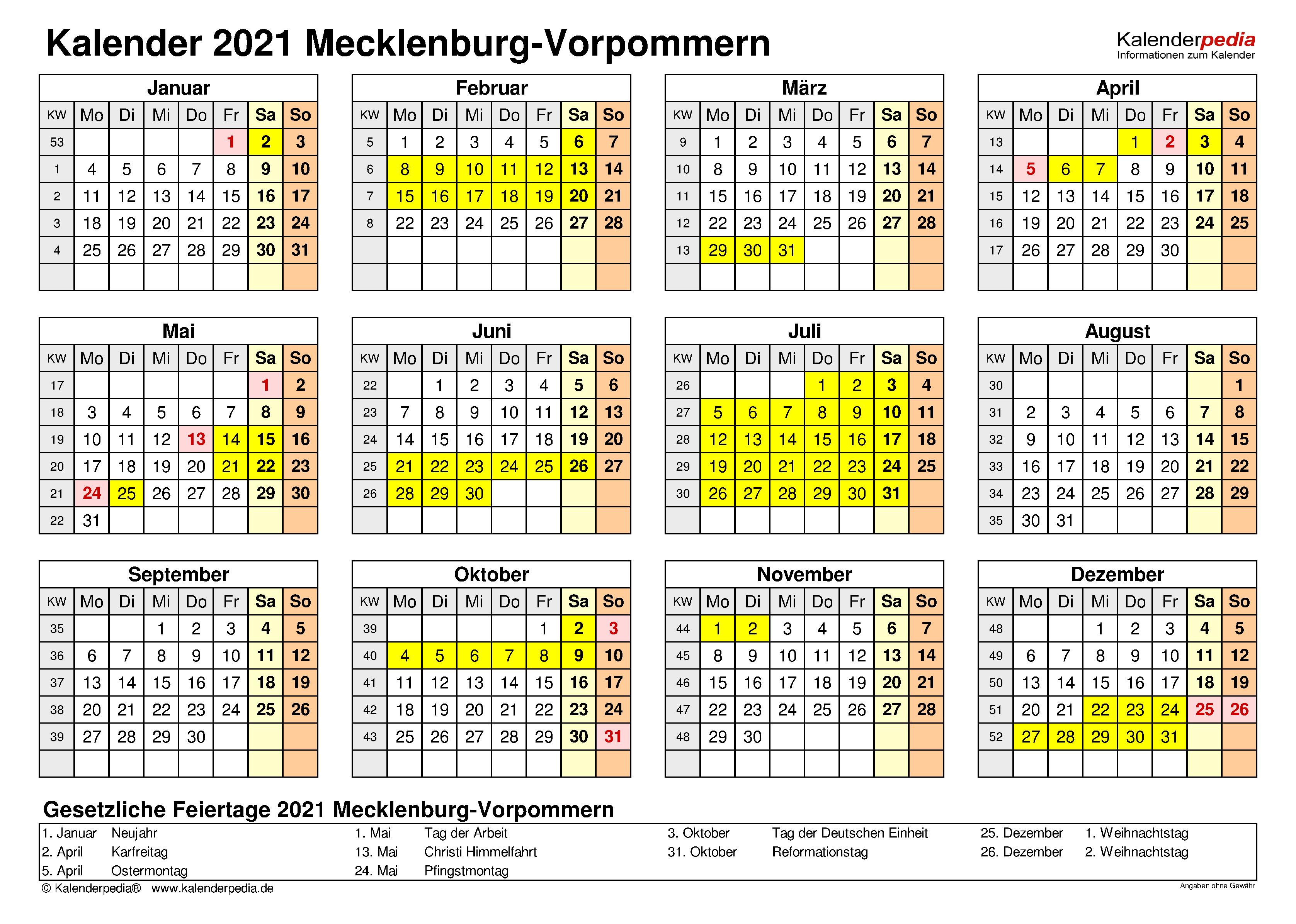 Feiertage 2021 Mv