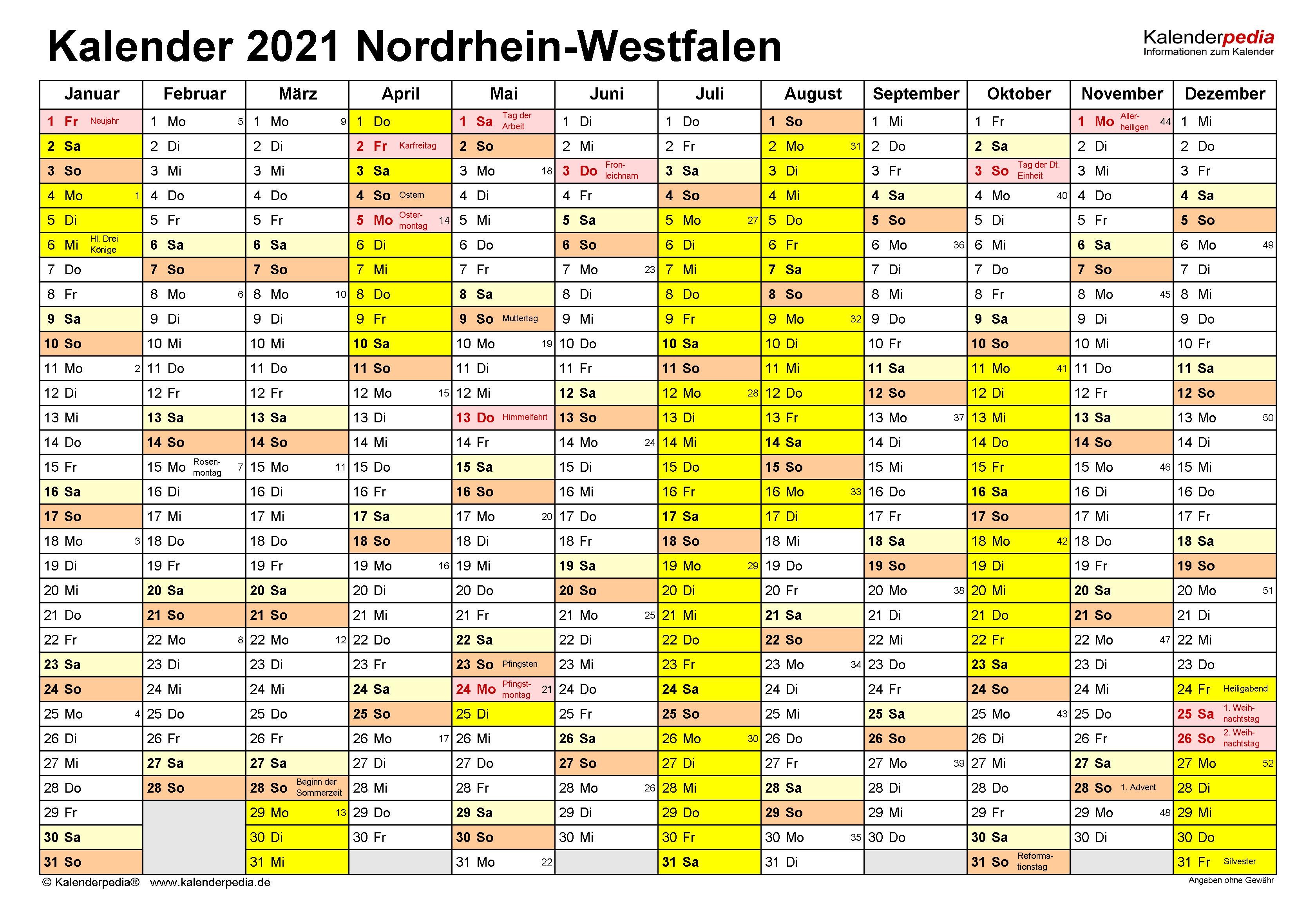 Ferien 2021 In Nrw