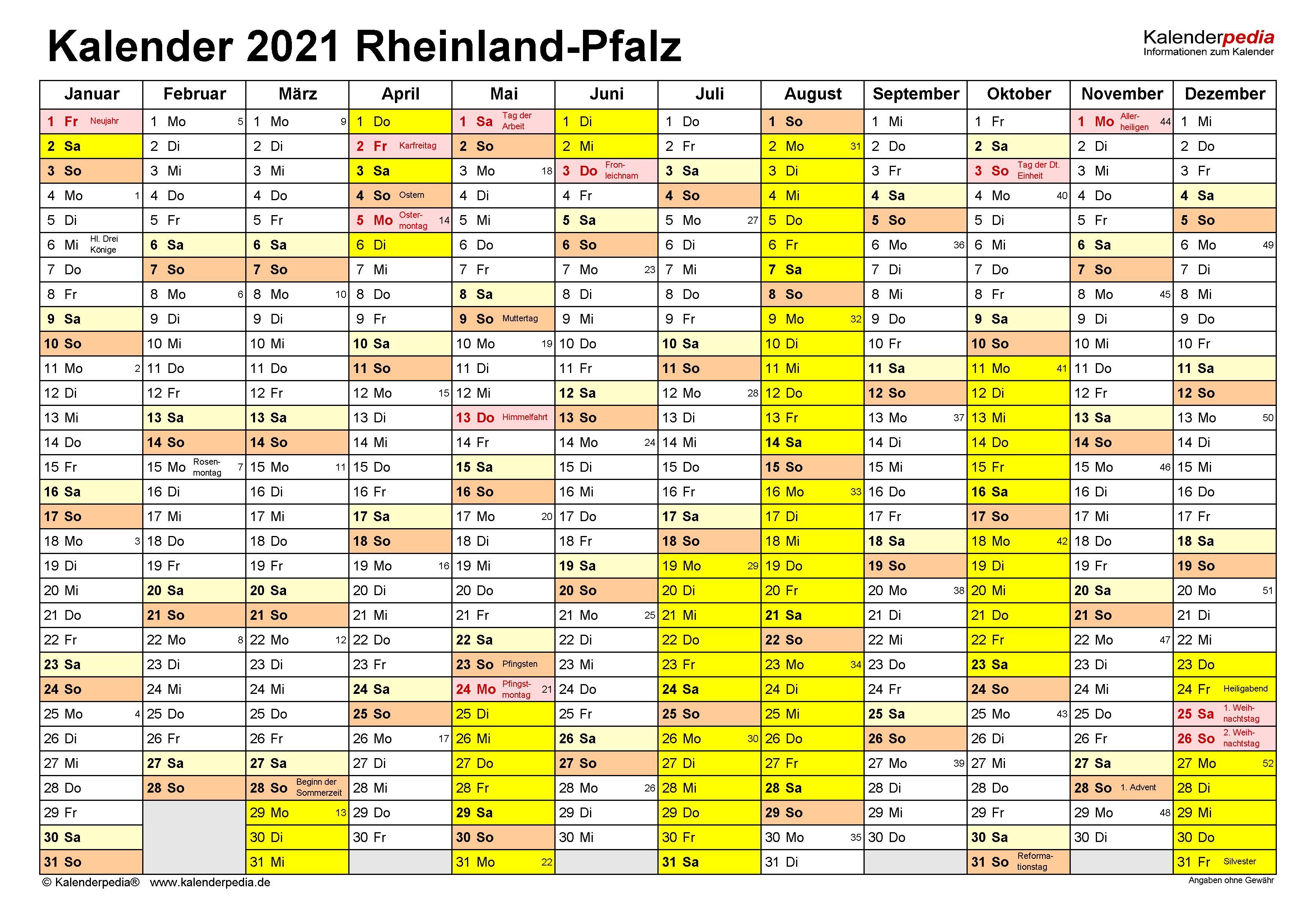 Feiertage 2021 Rlp