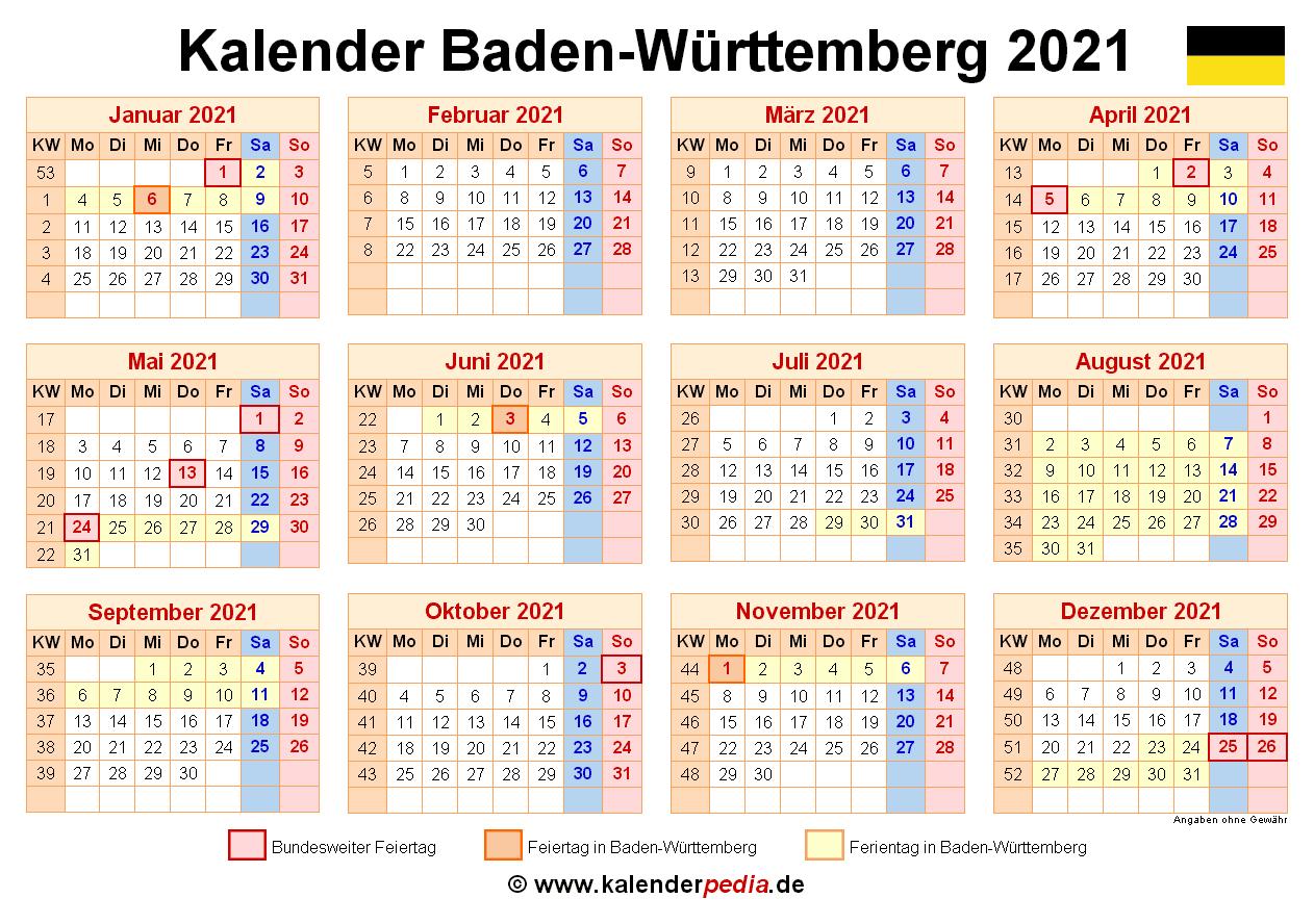 Kalender 2019 Baden Wurttemberg