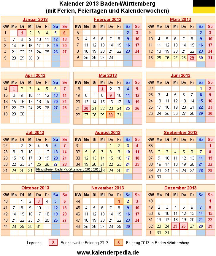 Württemberg kalender 2012 baden Kalender 2020