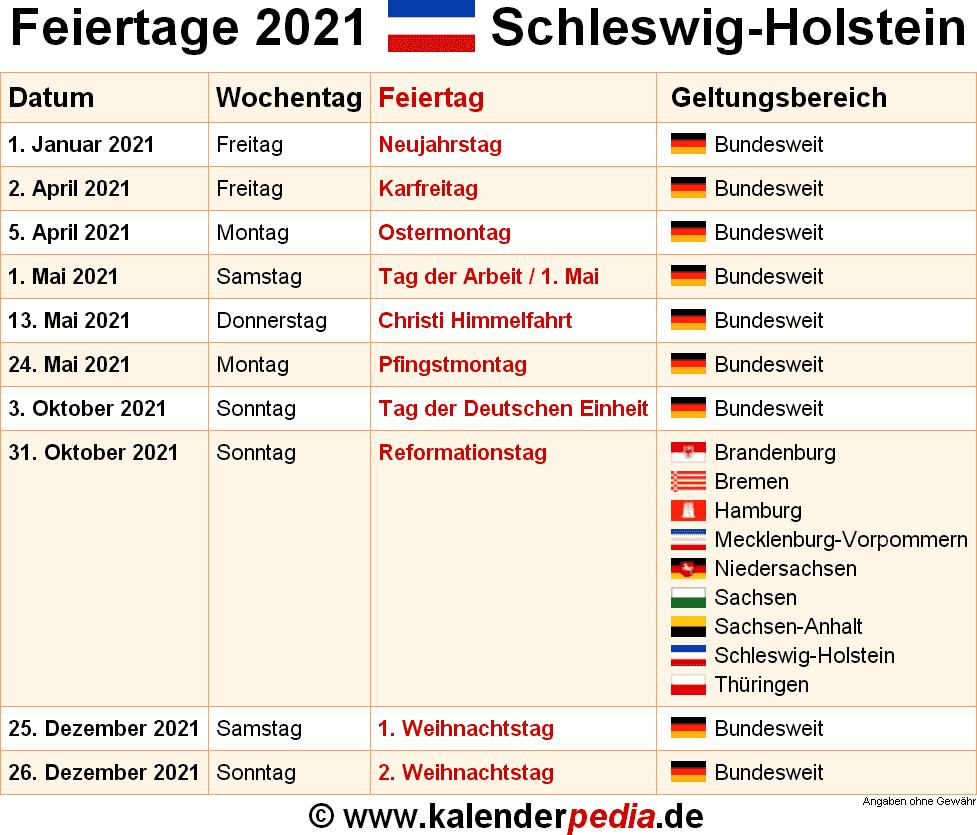Feiertag Schleswig Holstein