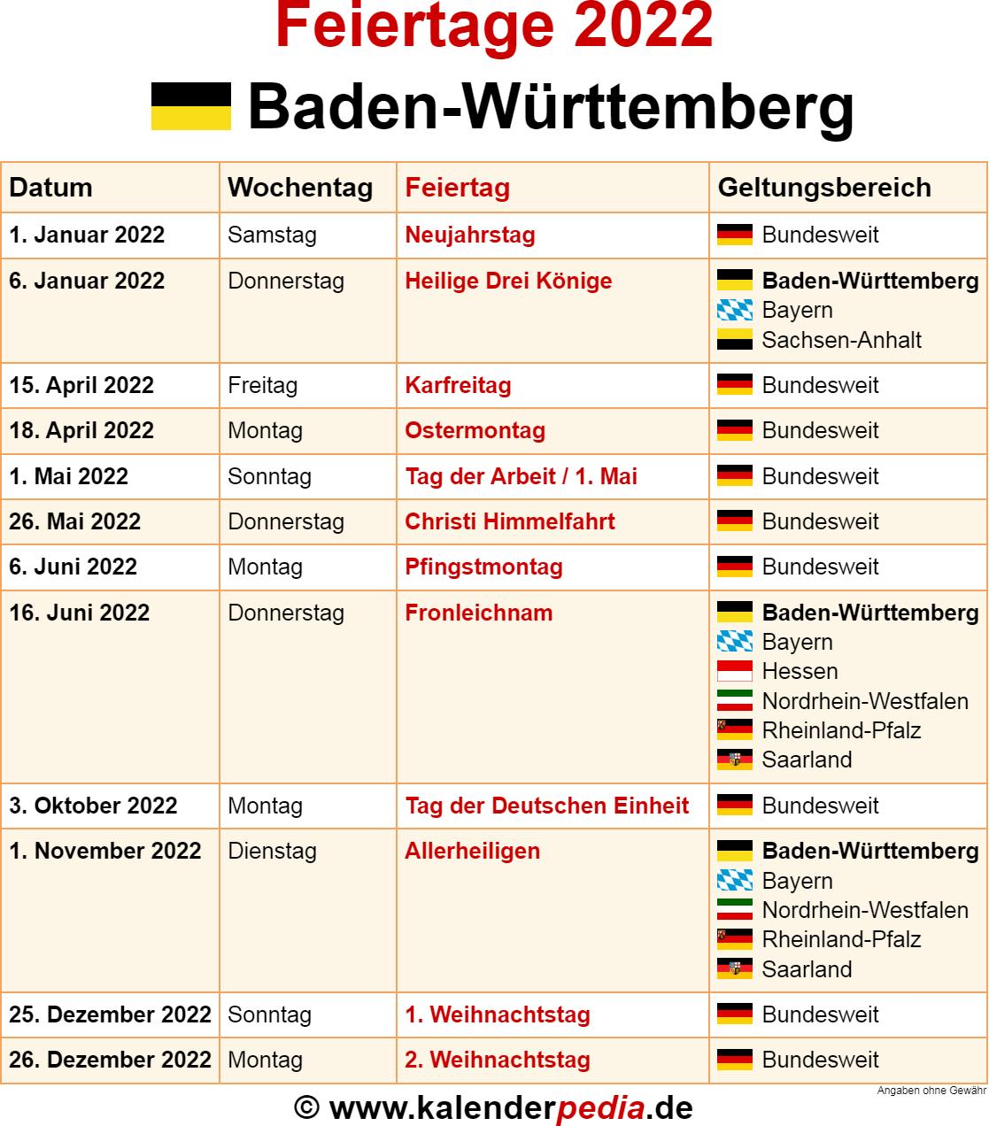 feiertage juni 2019 baden württemberg