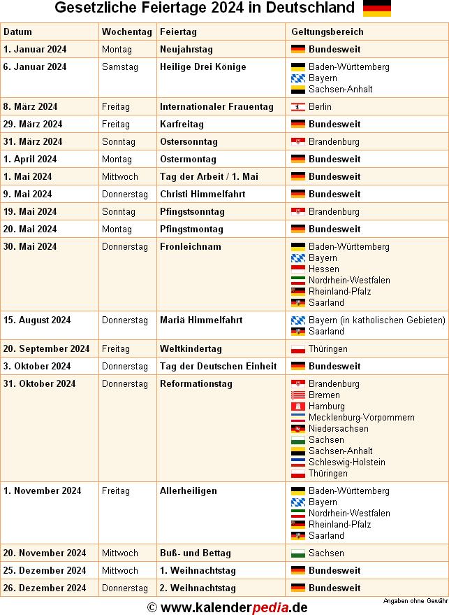 November Feiertage Bayern