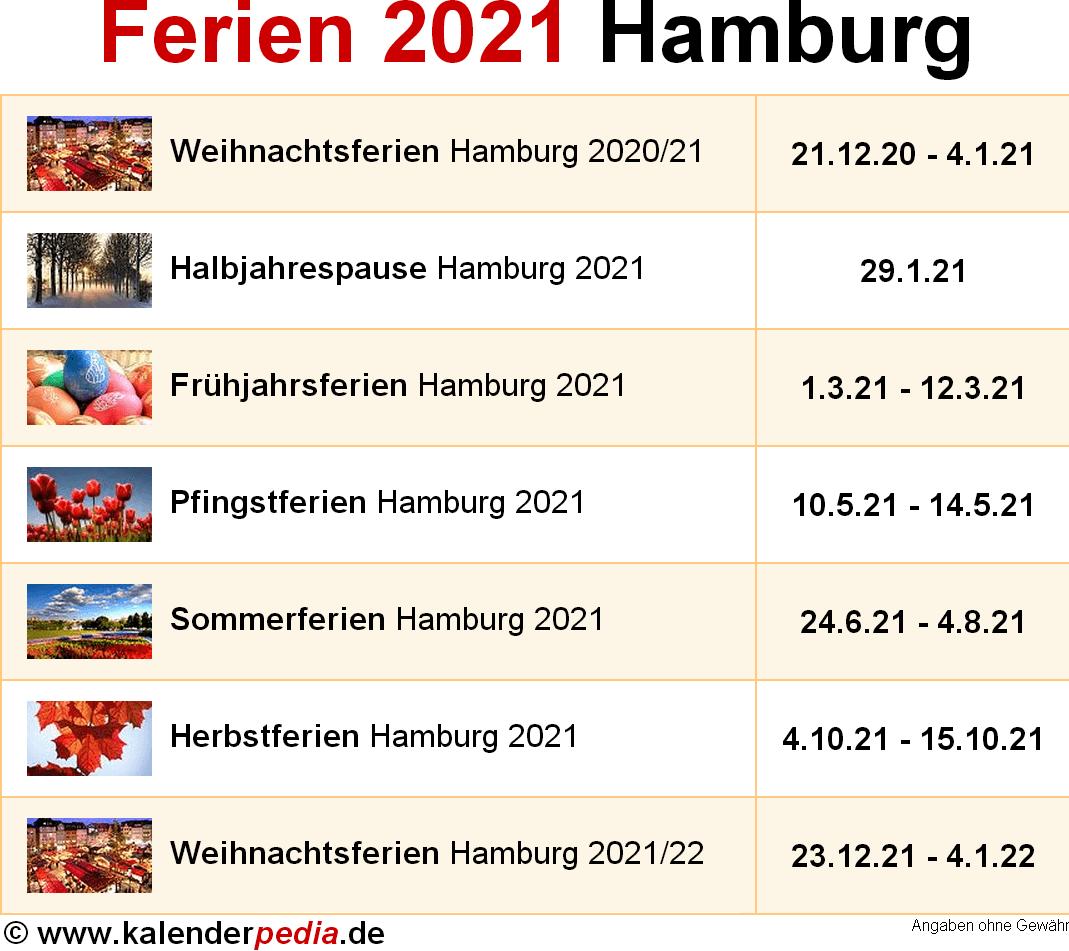 Hamburg Weihnachtsferien 2021