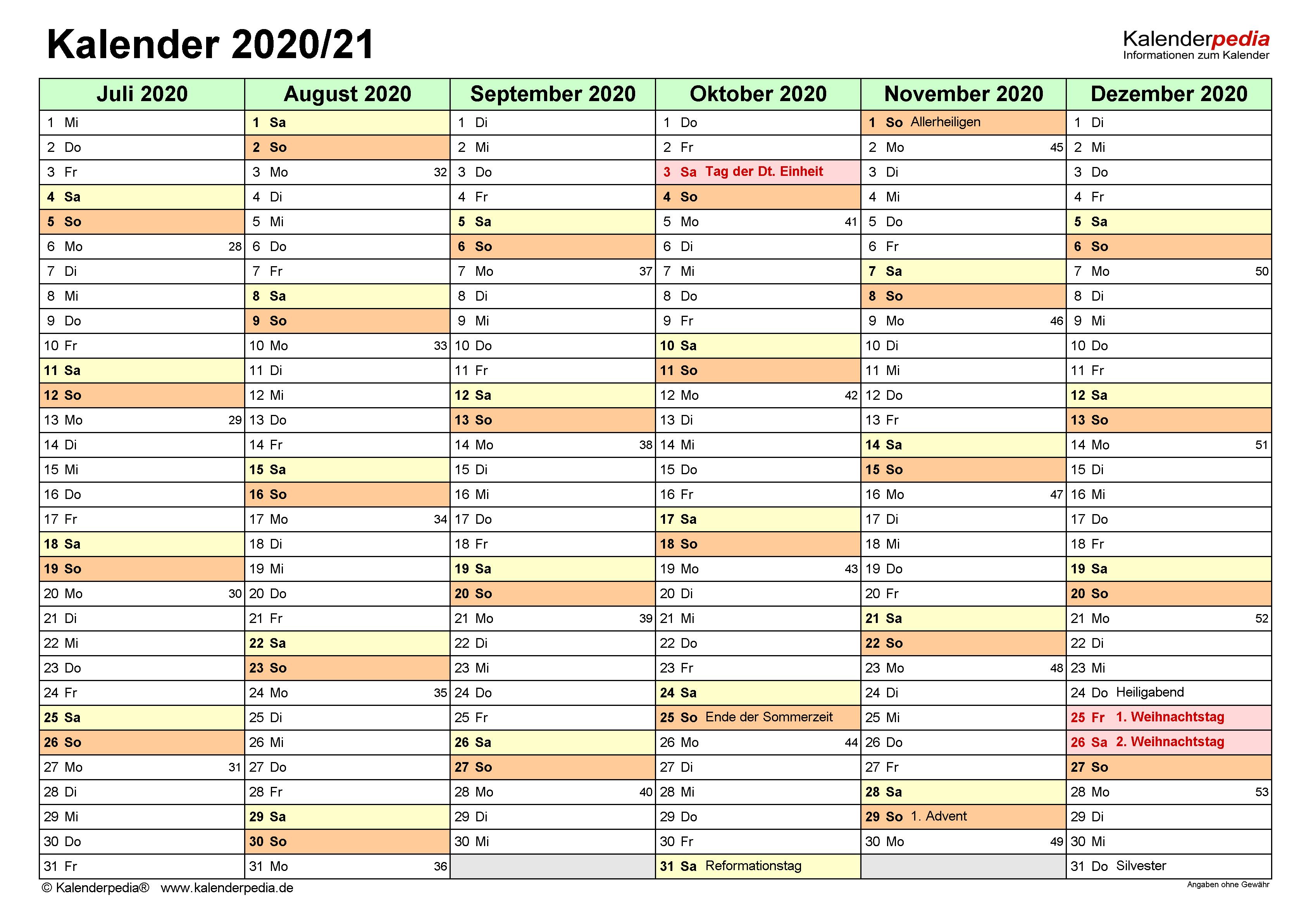 Halbjahreskalender 2021 Pdf