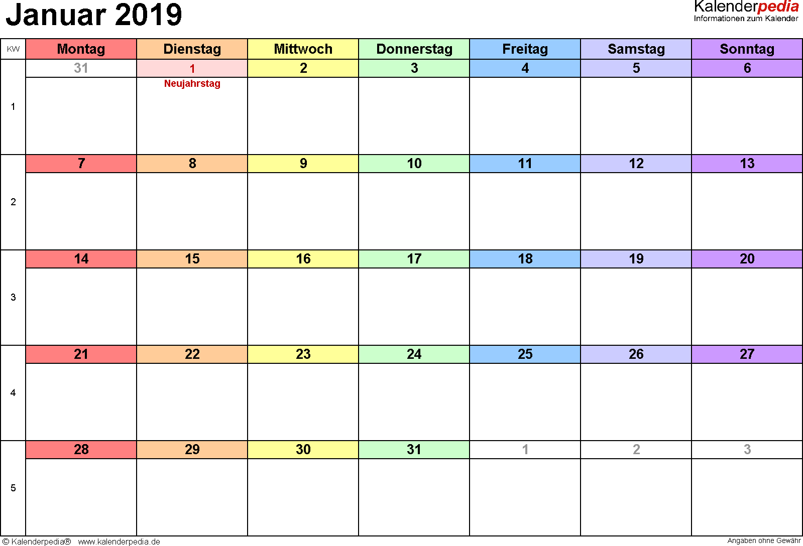 kalender 2019 kinder ausdrucken  kalender 2019 zum