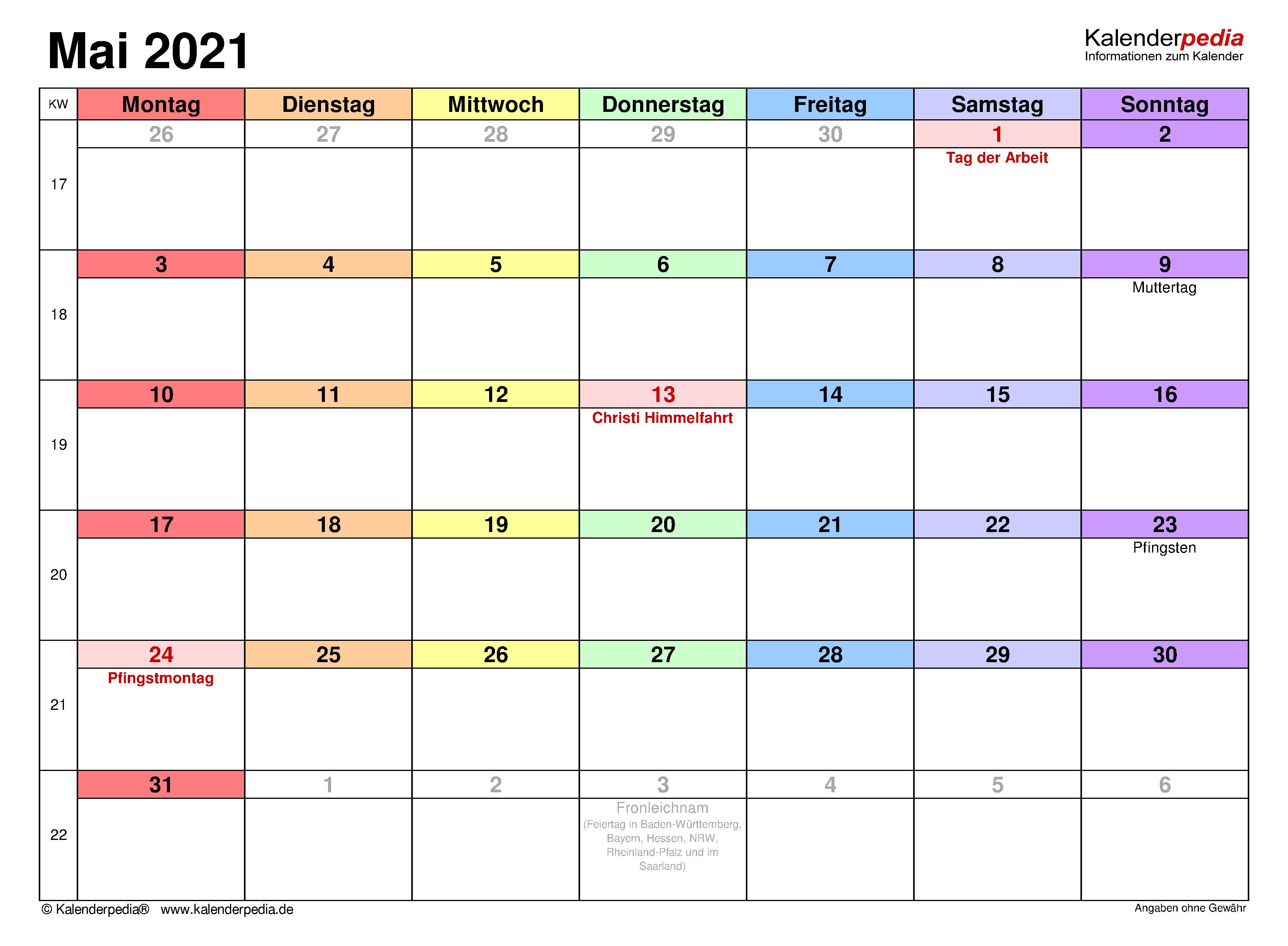 Wettertrend Mai 2021