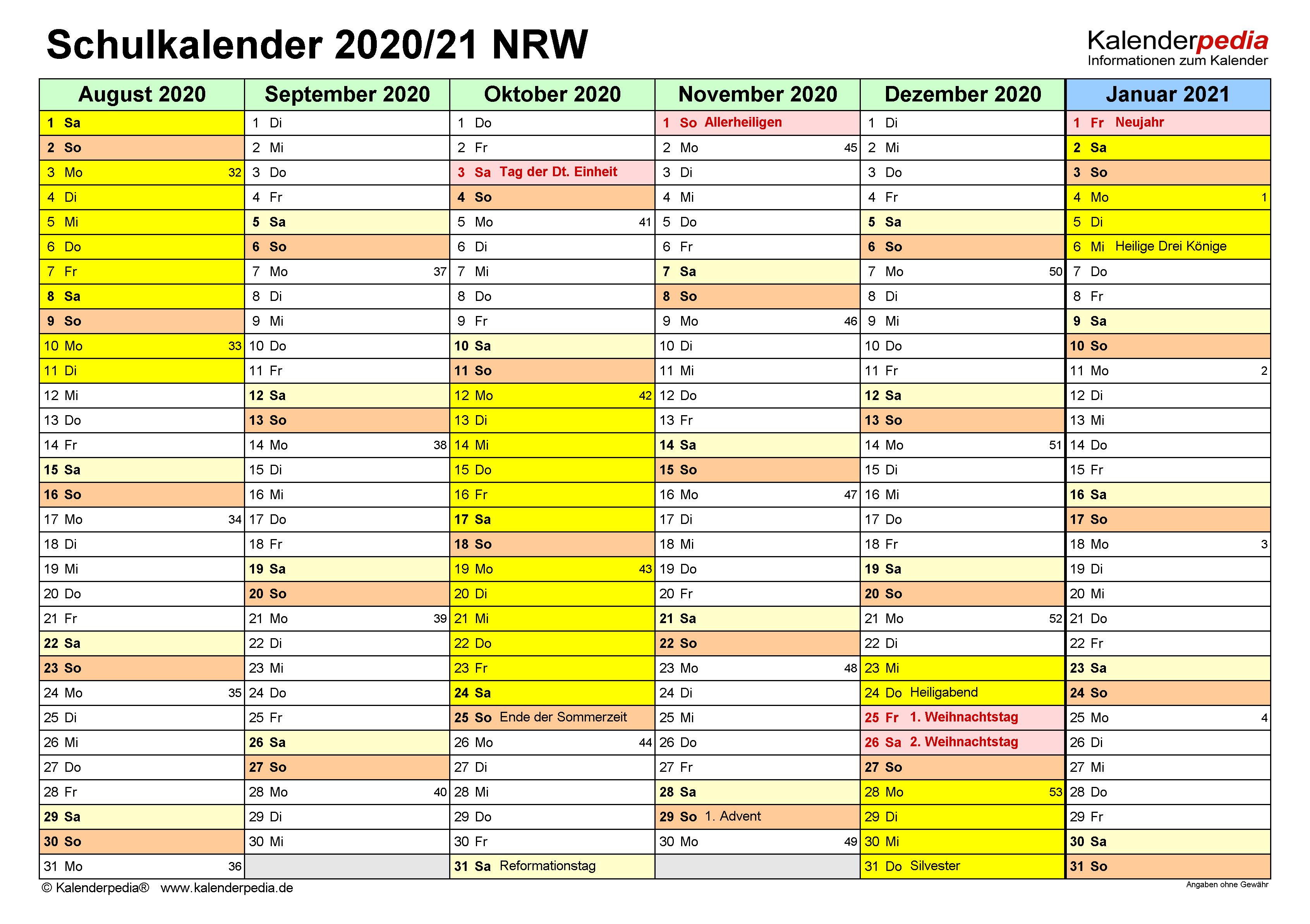 Ferien Nrw 2019 Sommer Kalender 2018 Ferien Nordrhein 2019