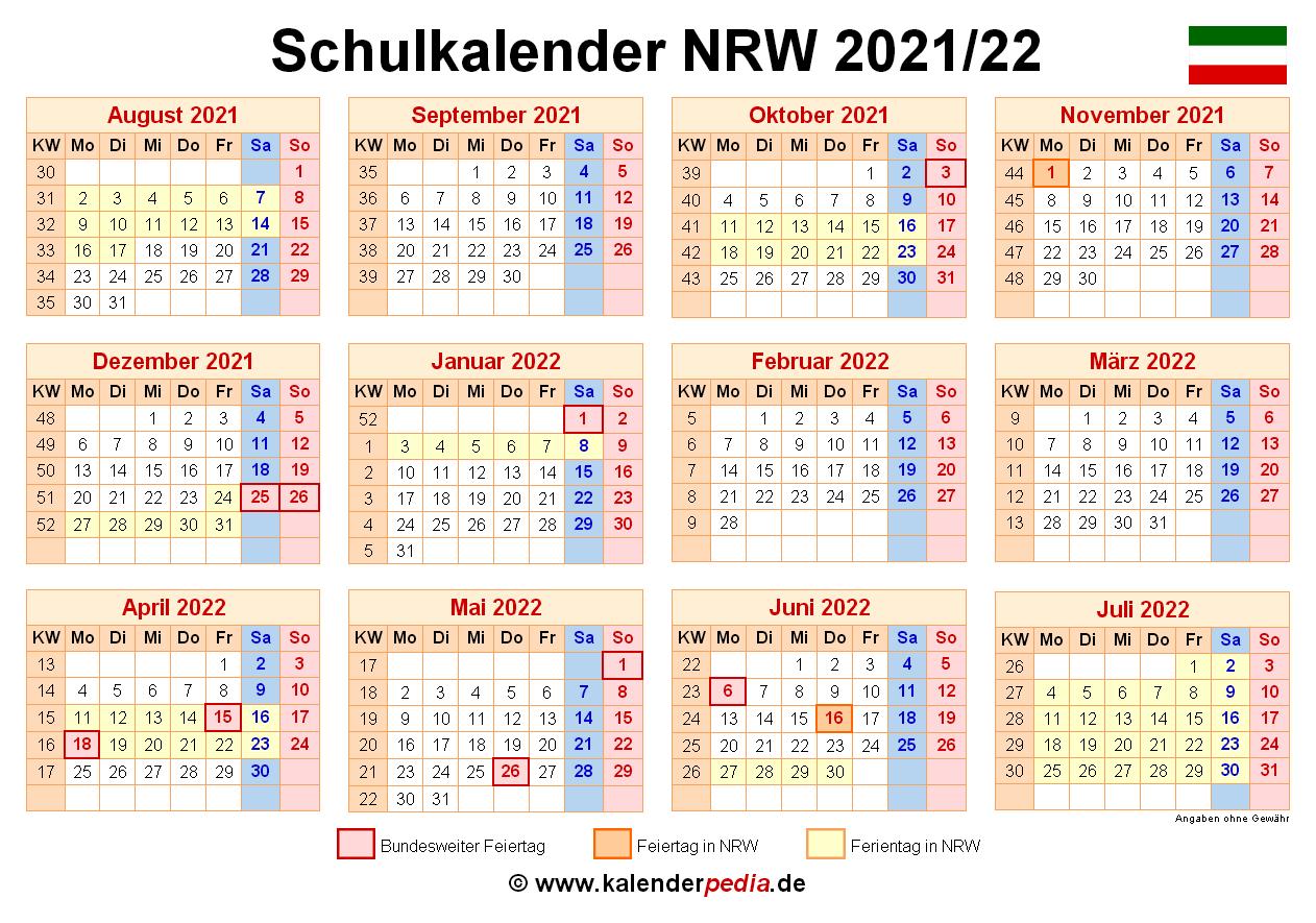 Schuljahr 2021 Nrw