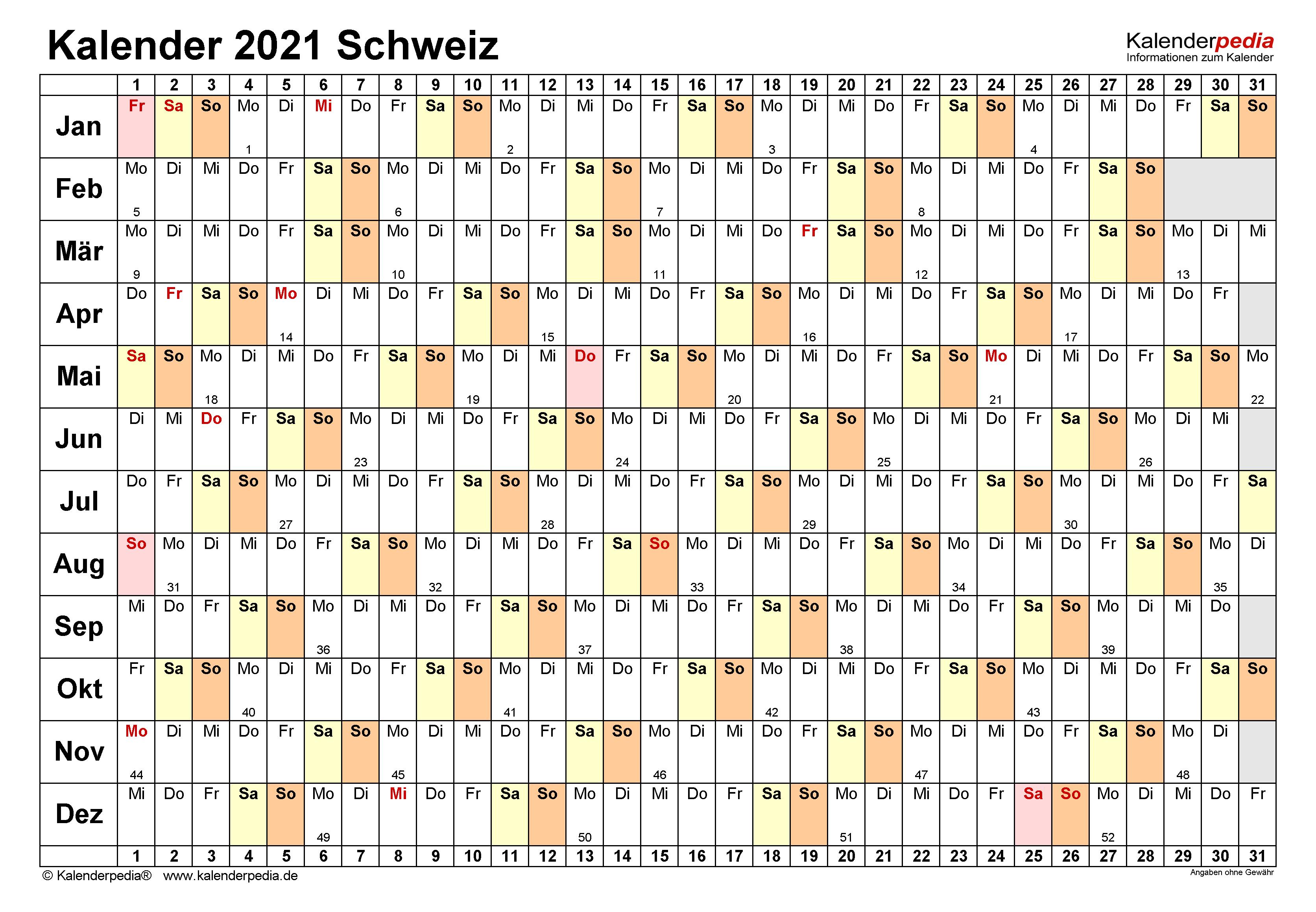 Tage Jahr 2021