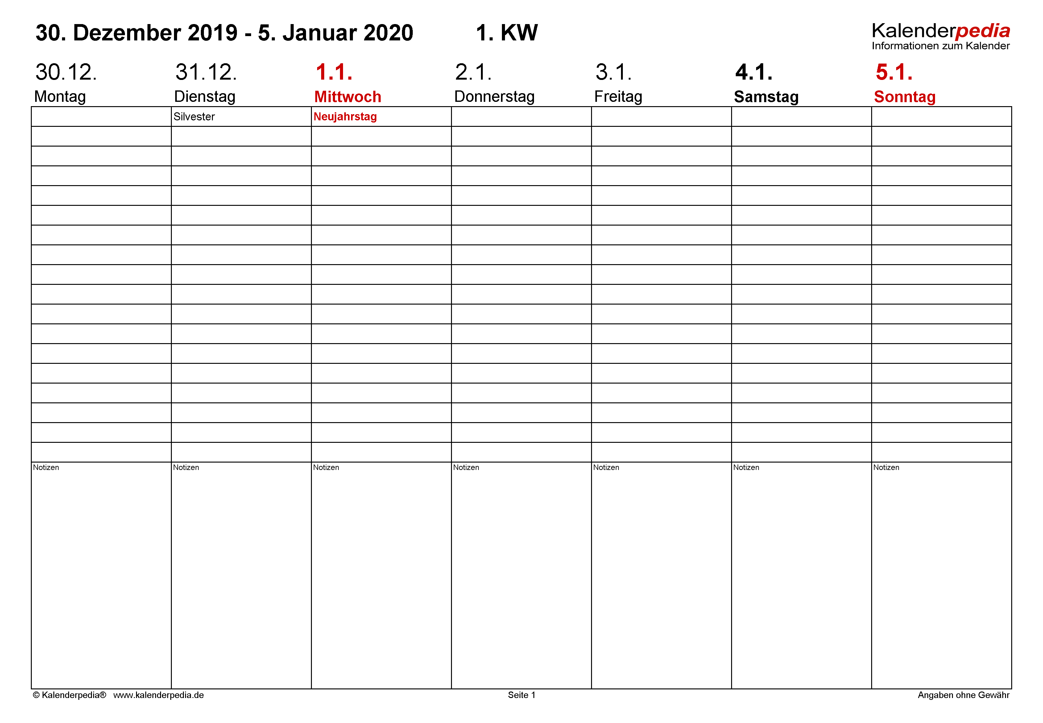 aktuelle kalenderwoche 2020