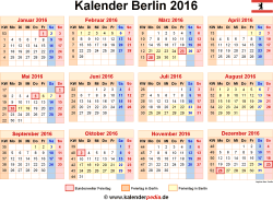 Kalender 2016 Berlin