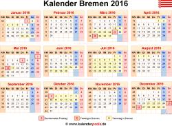 Kalender 2016 Bremen