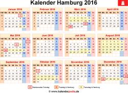 Kalender 2016 Hamburg