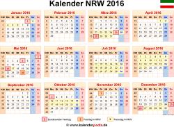 Kalender 2016 NRW