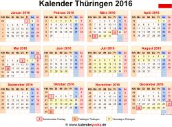 Kalender 2016 Thüringen