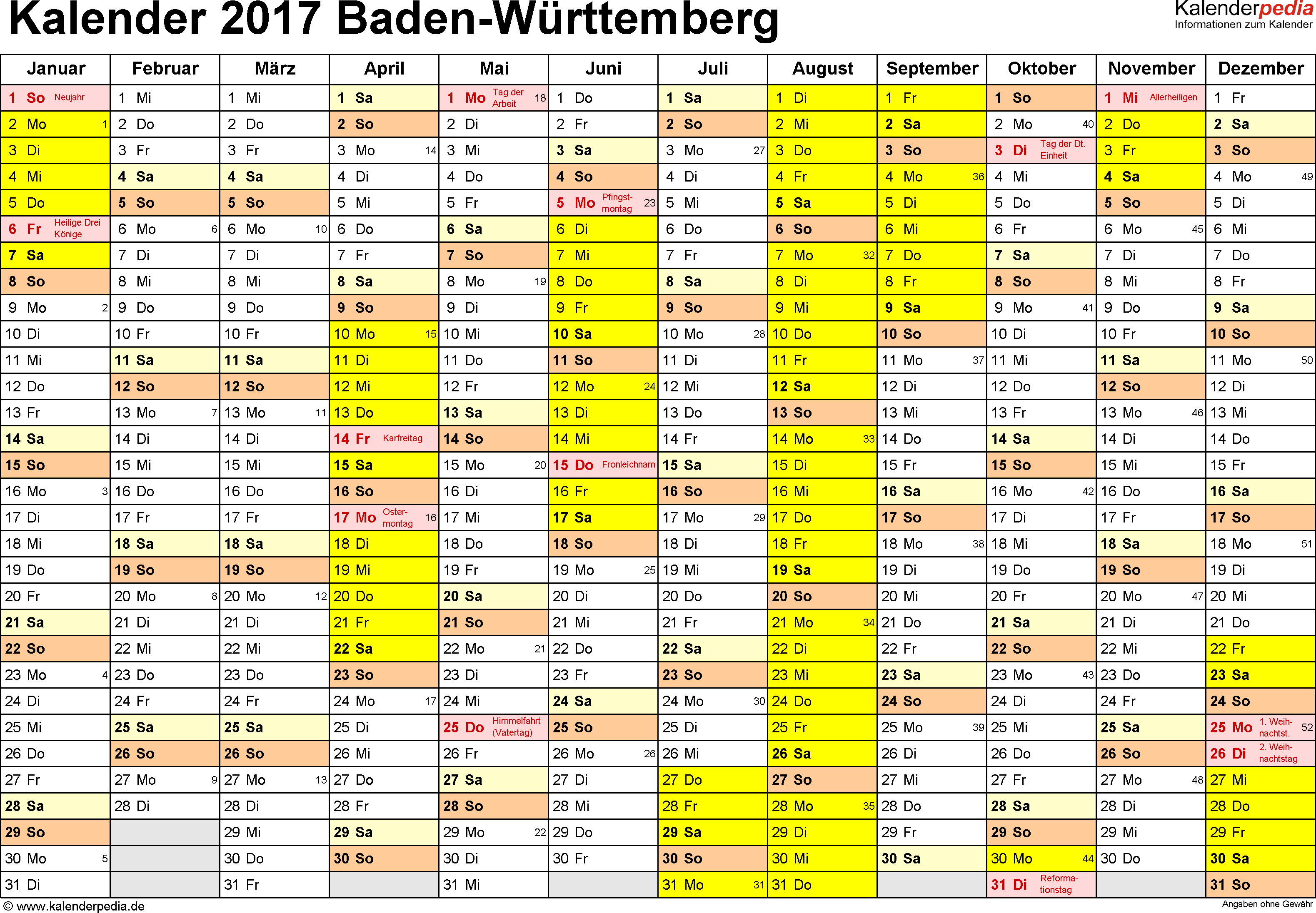 events in baden-württemberg in 2017