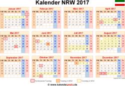 Kalender 2017 NRW