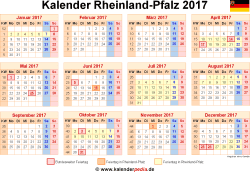 Kalender 2017 Rheinland-Pfalz