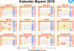 kalender 2018 bayern ferien feiertage word vorlagen. Black Bedroom Furniture Sets. Home Design Ideas