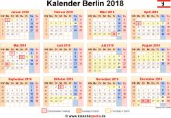 Kalender 2018 Berlin