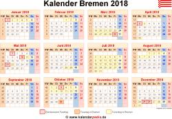 Kalender 2018 Bremen