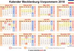 Kalender 2018 Mecklenburg-Vorpommern