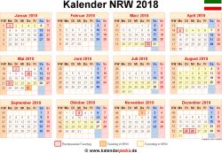 Kalender 2018 NRW