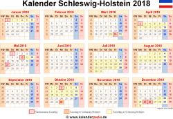 Kalender 2018 Schleswig-Holstein