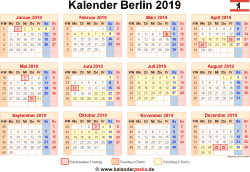 Kalender 2019 Berlin