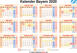 kalender 2020 bayern ferien feiertage pdf vorlagen. Black Bedroom Furniture Sets. Home Design Ideas