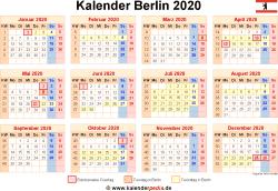 Kalender 2020 Berlin