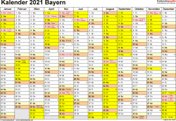 Kalender 2021 Bayern