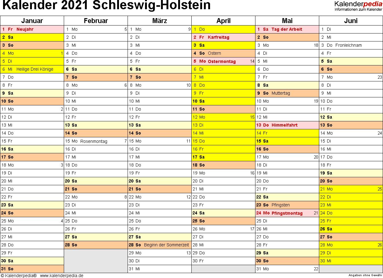 Schleswig Holstein Feiertage 2021