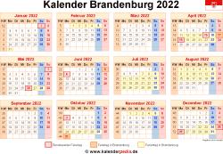 Kalender 2022 Brandenburg